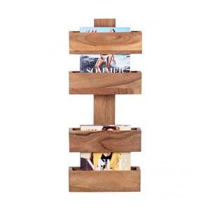 Gazetnik z litego drewna akacji Skyport Candela