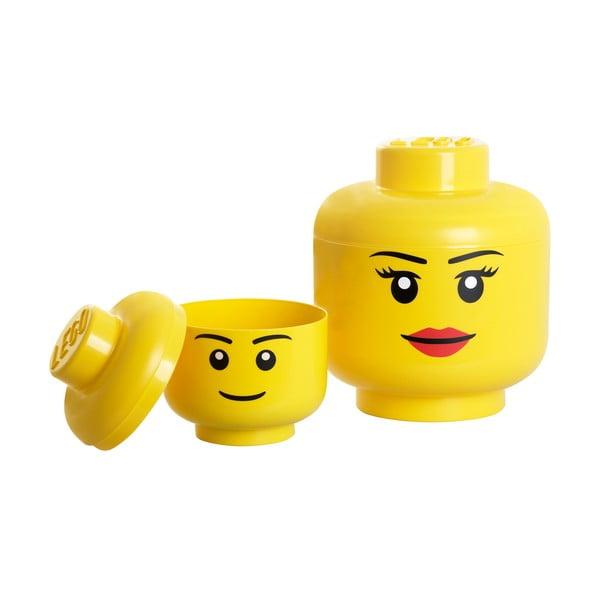Pojemnik w kształcie głowy LEGO® Girl, Ø 24,2 cm