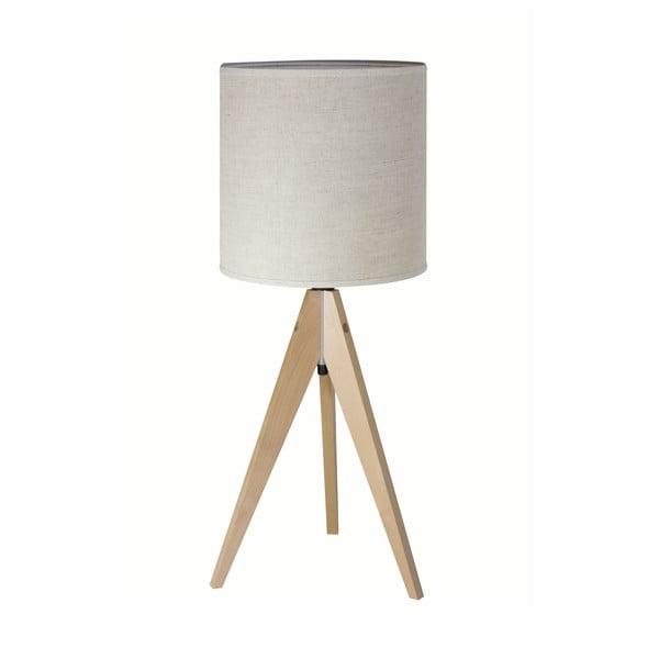 Lampa stołowa Artist Grey Linnen/Birch, 40x25 cm