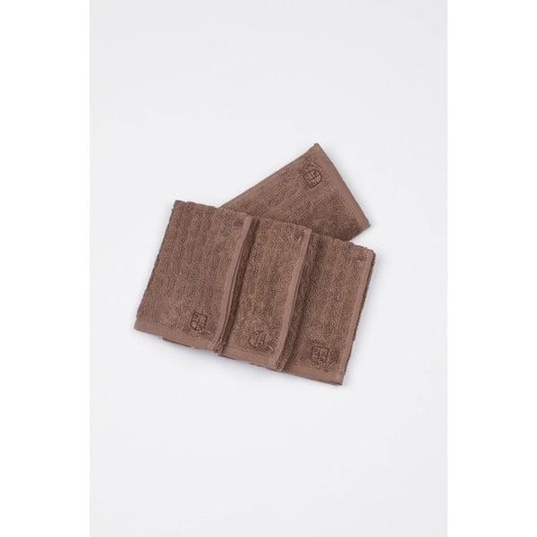 Komplet 4 ręczników U.S. Polo Assn. Eden Mink, 30x30 cm