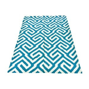 Dywan wełniany Geometry Modern Turquoise, 160x230 cm