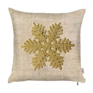 Świąteczna poszewka na poduszkę Apolena Honey Snowflake, 43x43 cm