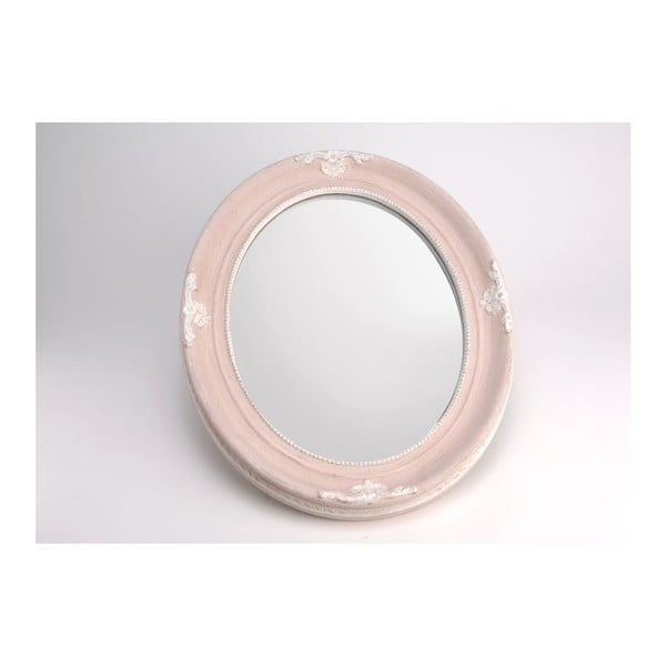Lustro Oval Pink, 50x40 cm