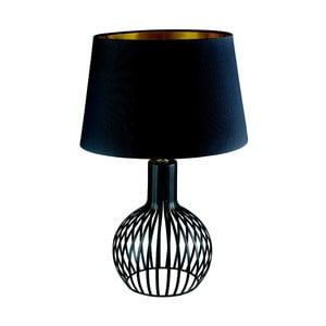 Lampa stołowa Searchlight Cage, czarna