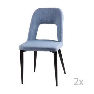 Zestaw 2 jasnoniebieskich krzeseł sømcasa Anika