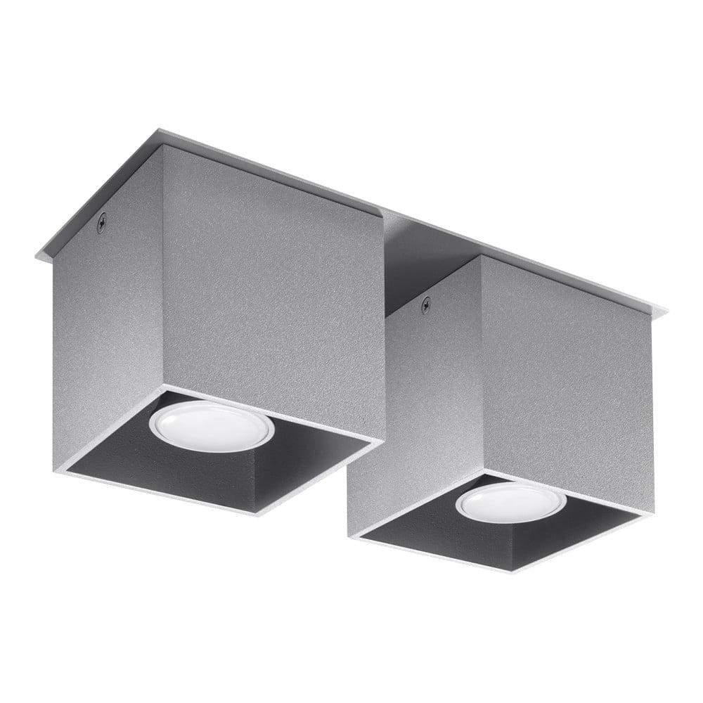 Szara lampa sufitowa Nice Lamps Geo 2