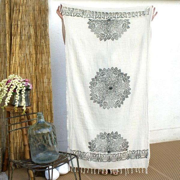 Ręcznik hamam Cloth Black Printed, 90x180 cm