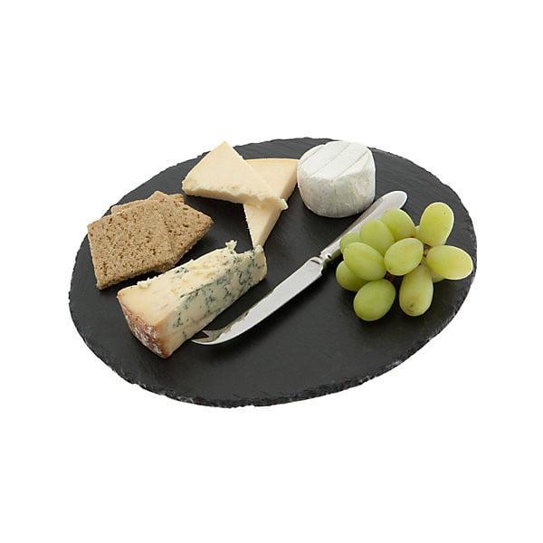 Deska do serów Round, łupek kamienny, 30 cm