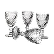 Zestaw 4 kieliszków do wina Unimasa Diamond, 220ml