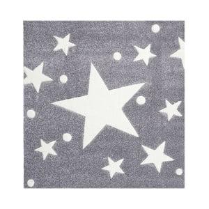 Szary dywan dziecięcy Happy Rugs Star Constellation, 140x140cm