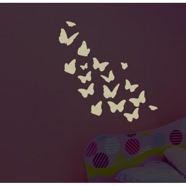 Świecąca naklejka dekoracyjna Farfalle