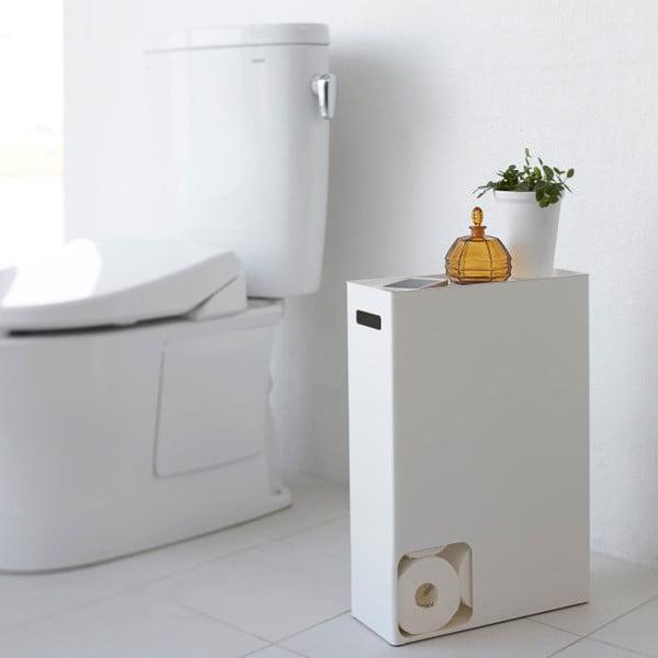 Biały pojemnik na papier toaletowy Yamazaki