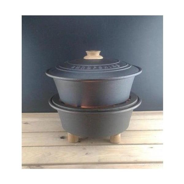 Ogrodowa kuchenka żeliwna z rondlem