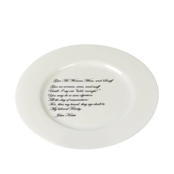 Porcelanowy talerz Keats, 21 cm