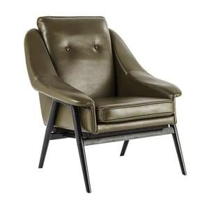 Oliwkowy fotel Kare Design Queens