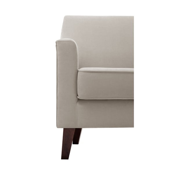 Brązowoszary fotel Jalouse Maison Kylie