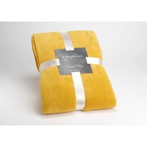 Koc Mustard Doudou, 170x130 cm
