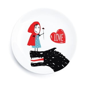 Talerz porcelanowy Little Red Love, 25 cm