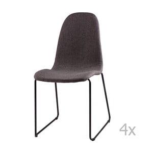 Zestaw 4 ciemnoszarych krzeseł sømcasa Helena