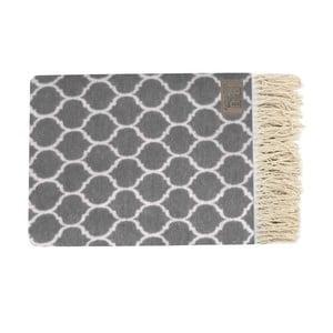 Szary pled bawełniany Geometric, 130x170cm