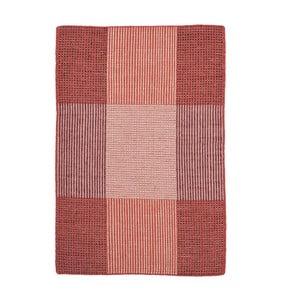 Czerwony dywan wełniany ręcznie tkany Linie Design Bologna, 50x80cm