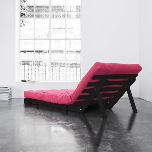 Fotel rozkładany Karup Roots Wenge/Magenta