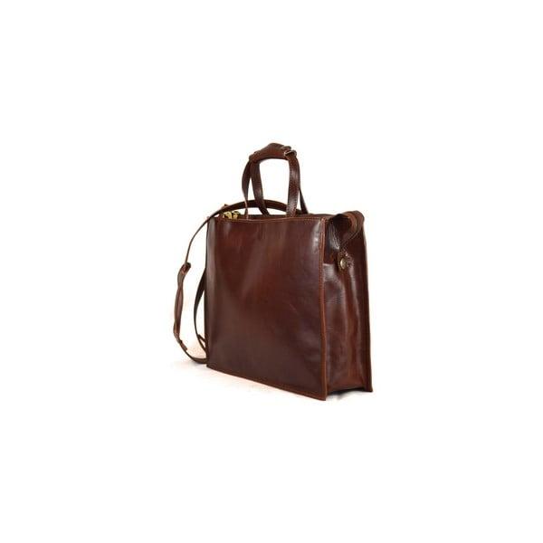 Skórzana torebka Santo Croce VL8209 Brown