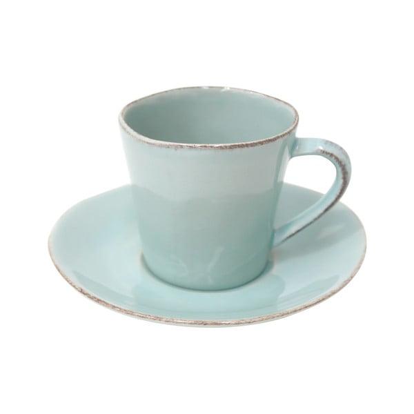 Turkusowa ceramiczna filiżanka ze spodkiem Ego Dekor Nova,190ml