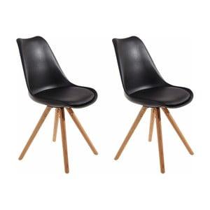 Zestaw 2 czarnych krzeseł Støraa Brenda