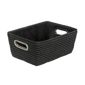 Czarny koszyk Wenko Bamboo Chromo