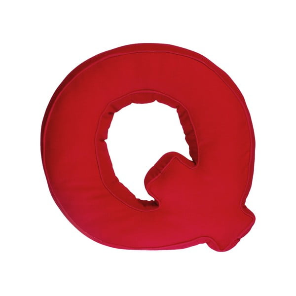 Poduszka w kształcie litery Q, czerwona