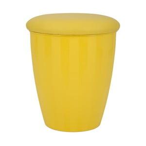 Żółty stołek ze schowkiem Mauro Ferretti Easy