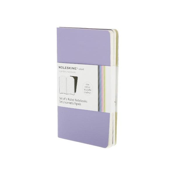 Zestaw 2 notesów  Moleskine Purple, w linie 9x14 cm