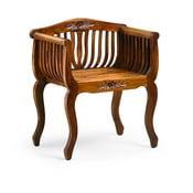 Fotel z drewna mindi Moycor Flower
