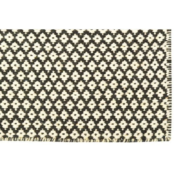 Ręcznie tkany kilim Brown Geometry Kilim, 72x108 cm
