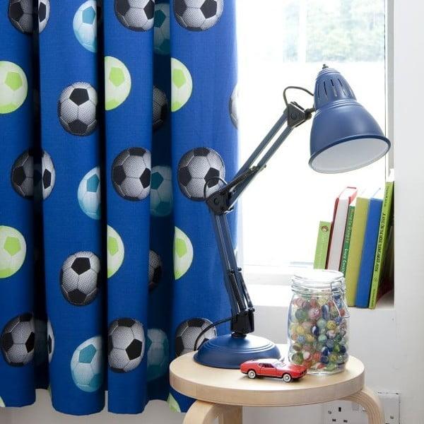 Zestaw 2 niebieskich zasłon Catherine Lansfield Football, 168x183cm