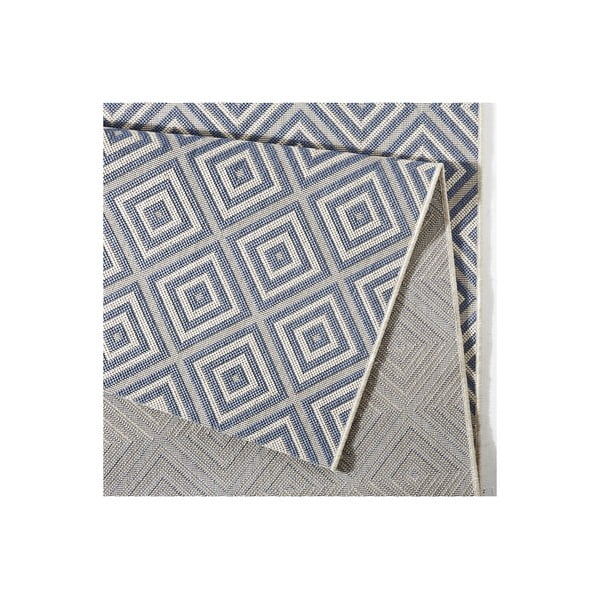 Niebieski dywan odpowiedni na zewnątrz Bougari Karo, 140x200cm