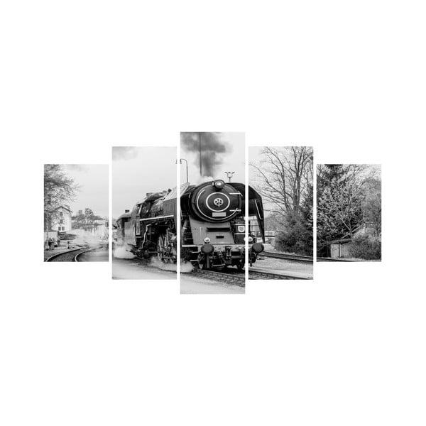Wieloczęściowy obraz Black&White no. 23, 100x50 cm