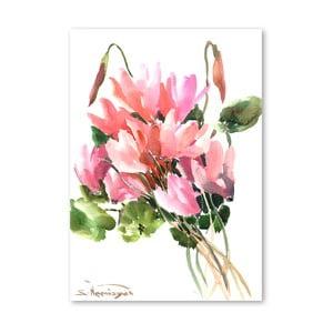 Plakat Flowers in Pink (projekt Suren Nersisyan)