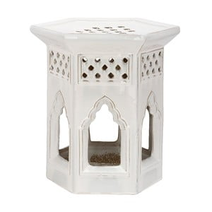 Biały stolik ceramiczny Safavieh Malta