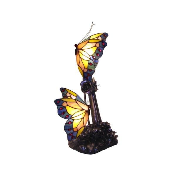 Lampka Tiffany Butterflies Patina