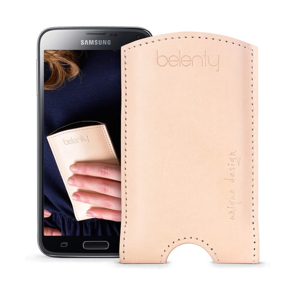 Skórzane etui na Samsung Galaxy S5 Cream