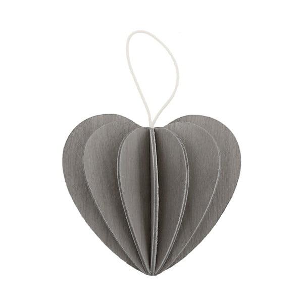 Składana pocztówka Heart Grey, 4.5 cm