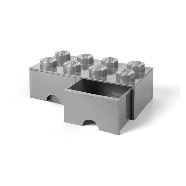 Szary pojemnik z 2 szufladami LEGO®