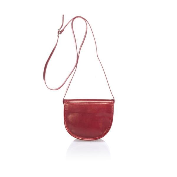 Czerwona skórzana torebka Giorgio Costa Calf