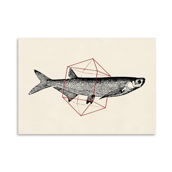 Plakat Fish In Geometrics 2, 30x42 cm