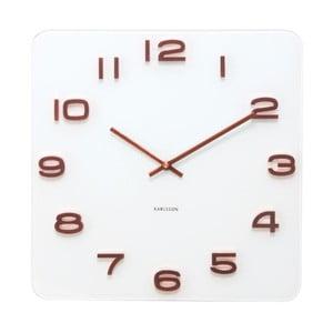 Zegar kwadratowy Present Time Vintage Copper Numbers