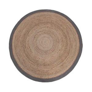 Dywan z juty z szarą obwódką LABEL51 Rug, Ø 150 cm