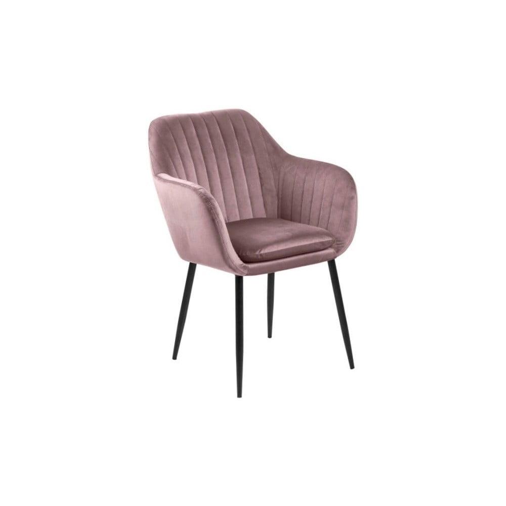 Różowy tapicerowany fotel Actona Emilia