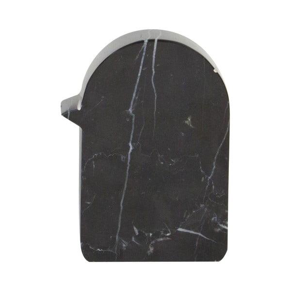 Marmurowa dekoracja Birdy 7x10 cm, czarna
